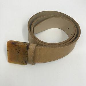 Prada Belt Plastic Tortoise Tone Buckle SZ 80 32